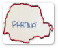 Mapa do Paraná desenhado a mão.