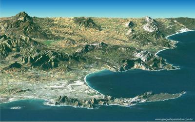 Imagem da Cidade do Cabo, localizada na África do Sul. </br></br> Palavras-chave: Cidade do Cabo. África do Sul. Localização Geográfica.