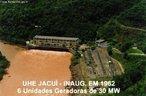 Usina Hidrelétrica do Jacuí é uma usina brasileira localizada no estado do Rio Grande do Sul. Tem potência efetiva de 180 MW e sua concessionária é a Companhia Estadual de Geração e Transmissão de Energia Elétrica.  </br></br>  Palavras-chave: Dimensão socioambiental. Dimensão econômica. Barragem. Energia elétrica. Reservatório de água. Jacuí. RS.