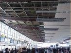 Ação do terremoto no aeroporto de Santiago do Chile, em setembro de 2010. </br></br> Palavras-chave: Aeroporto.Chile. Terremoto.