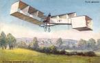 Santos-Dumont 14-bis - avião criado por Santos Dumont, e voou pela primeira vez em 23 de outubro de 1906.  </br></br> Palavras-chave: Avião. Meio de transporte. Conexão rápida.