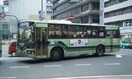 Transporte urbano, ônibus em Kioto, Japão.  </br></br>  Palavras-chave: Ônibus. Kioto. Transporte urbano. Coletivo. Urbanização. Crescimento urbano.
