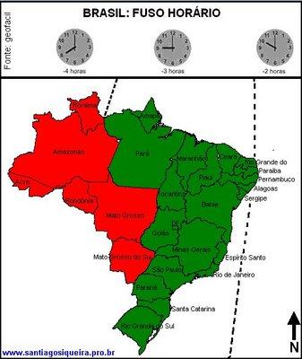 8521134b29f Imagem da divisão de fusos horários no Brasil segundo a lei Federal 11.662