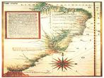 Mapa com a localiza��o das Capitanias Heredit�rias. Entre os anos de 1534 e 1536, o rei de Portugal D. Jo�o III resolveu dividir a terra brasileira em faixas, que partiam do litoral at� a linha imagin�ria do Tratado de Tordesilhas. Essas enormes faixas de terras, conhecidas como Capitanias Heredit�rias, foram doadas para nobres e pessoas de confian�a do rei.</br></br>  Palavras-chave: Capitanias Heredit�rias. Portugal. Brasil. Tratado de Tordesilhas. Terras.