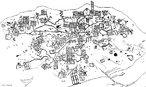 Documento antigo de cartografia, o Mapa de Bedolina, de aproximadamente, 1.500 a.C. visava representar uma aldeia na regi�o do Rio P�, ao norte da It�lia.</br></br>  Palavras-chave: Cartografia. Geografia. Mapas. Antiguidade. Localiza��o. Cultura.