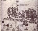 No in�cio do s�culo XIV, a obra de Ptolomeu foi retomada, orientando a confec��o das Cartas Portulanas, direcionadas aos navegadores. Essas cartas eram utilizadas para navega��o e confeccionadas com medi��es feitas com b�ssolas. A cartografia n�utica dos portugueses nasce da carta-portulano mediterr�nea. </br></br> Palavras-chave: Mapas. Cartografia. Geografia. Ptolomeu. Coordenadas Geogr�ficas. Matem�tica. Astronomia. Cartas Portulanas. Navega��o. Cartografia N�utica.