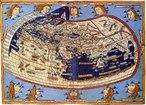 O apogeu da cartografia nesse per�odo est� relacionado � obra de Ptolomeu (87-50 a.C.). Sua famosa obra Geografia � formada de oito volumes, tratando desde a constru��o de globos � t�cnica de proje��o de mapas. Descreveu mais de 8.000 lugares com coordenadas geogr�ficas. O volume mais importante trata dos princ�pios da Cartografia, da Geografia, da Matem�tica, das proje��es e dos m�todos de observa��o astron�mica. </br></br> Palavras-chave: Mapas. Cartografia. Geografia. Ptolomeu. Coordenadas Geogr�ficas. Matem�tica. Astronomia.