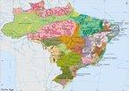 Mapa do IBGE identificando as unidades de relevo que podem ser encontradas no Brasil. </br></br> Palavras-chave: Mapas. IBGE. Brasil. Relevo.