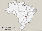 Mapa do Brasil com limites dos Estados, sem legendas.</br></br>Palavras-chave: Mapa Mudo do Brasil. Divis�o Pol�tica. Mapa do Brasil. Dimens�o Socioambiental. Lugar. Territ�rio. Regi�o. Dimens�o Econ�mica da Produ��o do e no Espa�o.