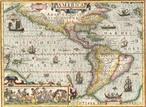 Mapa de Joducus Hondius, Amsterdan, 1606. Mais um belo exemplar da fina arte da cartografia do s�culo XVII. O destaque � para o continente americano, embora esteja com alguns erros, s� corrigidos nos anos posteriores. Ricamente ilustrado, traz os meridianos, os paralelos (C�ncer e Capric�rnio), o Equador e algumas ilhas do Oceano Pac�fico.</br></br>Palavras-chave: Mapas. Cartografia. Continentes. Am�rica. Meridianos. Paralelos. Linha do Equador. Joducus Hondius.
