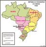 Em 1975 o estado da Guanabara foi transformado em munic�pio do Rio de Janeiro. Em 1979, Mato Grosso foi dividido, dando origem ao estado do Mato Grosso do Sul.</br></br>Palavras-chave: Brasil. Regi�o. Regionaliza��o. IBGE. Administra��o. Desenvolvimento. Pol�ticas P�blicas.