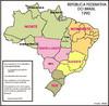 A Constitui��o Federal de 1988 dividiu o estado de Goi�s e criou o estado de Tocantins, que foi inclu�do na Regi�o Norte. Com o fim dos territ�rios federais, Rond�nia, Roraima e Amap� tornaram-se estados e Fernando de Noronha foi anexado ao estado de Pernambuco, sendo esta a divis�o oficial vigente at� o momento.</br></br>Palavras-chave: Brasil. Regi�o. Regionaliza��o. IBGE. Administra��o. Desenvolvimento. Pol�ticas P�blicas.