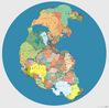 H� 300 milh�es de anos a Pang�ia continha todos os pa�ses que conhecemos atualmente. Esta imagem, criada por Massimo Pietrobon, apresenta as divis�es geopol�ticas atuais e a localiza��o de cada continente.</br></br>Palavras-chave: Pang�ia. Placas Tect�nicas. Movimento. Magma. Terremotos. Pa�ses. Continentes. Evolu��o.
