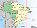Esta � a divis�o de fusos hor�rios no Brasil segundo a lei Federal 11.662, de 24 de Abril de 2008, vigente at� 10 de novembro de 2013, quando entrou em vigor a Lei 12.876/2013, segundo a qual o Brasil passa a ter novamente 4 fusos hor�rios: o estado do Acre e a parte ocidental do estado do Amazonas retornam ao antigo fuso hor�rio, com duas horas a menos em rela��o ao hor�rio de Bras�lia. </br></br> Palavras-chave: Fuso Hor�rio. Brasil. Estado. Acre. Par�. Amazonas. Meridiano de Greenwich.