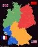 Ap�s a derrota do pa�s na Segunda Guerra Mundial e o in�cio da Guerra Fria, a Alemanha permaneceria dividida por 40 anos, com cada uma das partes integrando blocos econ�mico-ideol�gicos opostos. Em 1990, com o colapso da Uni�o Sovi�tica e o fim da Guerra Fria, a Alemanha foi reunificada. </br></br> Palavras-chave: Dimens�o Econ�mica do Espa�o Geogr�fico. Dimens�o Pol�tica. Regi�o. Territ�rio. Lugar. Pa�ses. Guerra. Alemanha. Mapa. Divis�o. Muro.