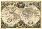 Mapa mundial hist�rico do ano de 1689 criado por G. van Schagen em Amsterd�. </br></br> Palavras-chave: Mapas. mapa-m�ndi. Geografia. Cartografia. Representa��o Cartogr�fica.