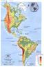 Geologia e relevo: Seu relevo relativamente simples, com dois sistemas montanhosos, dispostos mais ou menos paralelamente �s costas oriental e ocidental: os montes Apalaches ou Aleg�nis e as Cordilheiras Ocidentais. Do ponto de vista geol�gico e fisiogr�fico, divide-se em cinco �reas relativamente homog�neas: montes Apalaches ou Aleg�nis, Cordilheiras Ocidentais, Plan�cie, Escudo Canadense e Plan�cie Costeira. </br></br> Hidrografia: Acha-se em estreita rela��o com as regi�es morfol�gicas. A Plan�cie Central � a que apresenta drenagem mais ampla, � para as vertentes do Atl�ntico e do Pac�fico afluem rios mais curtos, em virtude da proximidade das montanhas em rela��o ao litoral. Os Grandes Lagos, na fronteira dos EUA com o Canad�, constituem um dos elementos caracter�sticos da hidrografia.</br></br>Palavras-chave: Relevo. Hidrografia. Am�rica F�sico. Mapa.