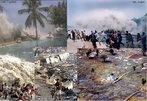 O Terremoto do oceano Índico de 2004 ocorreu a 26 de dezembro daquele ano, por volta das oito da manhã na hora local da região de seu epicentro, em pleno oceano, a oeste da ilha de Sumatra. O abalo teve magnitude sísmica estimada primeiramente em 8,9 na Escala de Richter, posteriormente elevada para 9,0 , sendo o sismo mais violento registado desde 1960 e um dos cinco maiores dos últimos cem anos. Ao tremor de terra seguiu-se um <em>tsunami</em> de cerca de dez metros de altura que devastou as zonas costeiras.  Palavras-chave: Terremoto, tsunami, Sumatra, Escala Richter, Zonas Costeiras, movimento de placas, encontro de placas.