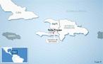 Mapa com a localização do epicentro do terremoto no Haiti, na cidade de Porto Princípe, ocorrido em 12 de janeiro de 2010, classificado com magnitude 7 na escala Richter. </br></br> Palavras-chave: Haiti. Terremoto. Placas Tectônicas. Abalos Sísmicos. Escala Richter.