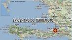 Mapa com a localização do epicentro do terremoto no Haiti, na cidade de Porto Princípe, ocorrido em 12 de janeiro de 2010, classificado com magnitude 7 na escala <em>Richter</em>. </br></br> Palavras-chave: Haiti. Terremoto. Placas Tectônicas. Abalos Sísmicos. Escala Richter. Mapa.