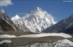 O K2 (tamb�m conhecida como Monte <em>Godwin-Austen, Chogori</em> ou <em>Dapsang</em>) � uma montanha da cordilheira de <em>Karakoram</em>, uma das cadeias dos Himalaia, na fronteira sino-paquistanesa (na regi�o da Caxemira ocupada, no Baltist�o). � o segundo pico mais alto do mundo, depois do Monte <em>Everest</em>. Tem uma altitude m�xima de 8.611 metros, mas � apenas a 22� montanha mais proeminente (4.017 m de reascens�o).  </br></br> Palavras-chave: Dimens�o Demogr�fica. Territ�rio. Regi�o. Lugar. k2. Relevo. Cadeia de Montanhas.