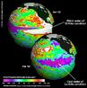 """<em>La Niña</em> representa um fenômeno oceânico-atmosférico com características opostas ao <em>El Niño</em>, ou seja, apresenta um esfriamento anormal nas águas superficiais do Oceano Pacífico Tropical. Este termo, <em>La Niña</em> (que quer dizer """"a menina"""", em espanhol), também pode ser chamado de episódio frio, ou ainda <em>El Viejo</em> (""""o velho"""", em espanhol). O termo mais utilizado hoje é: <em>La Niña</em>. </br></br> Palavras-chave: La Niña. El Niño. Oceano Pacífico. Temperatura. Atmosfera."""